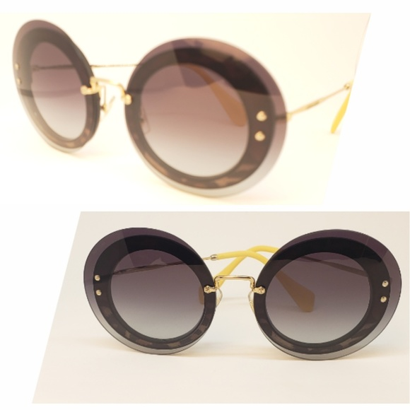 0695802c46a8 Miu Miu Sunglasses Oversized Rounded leopard